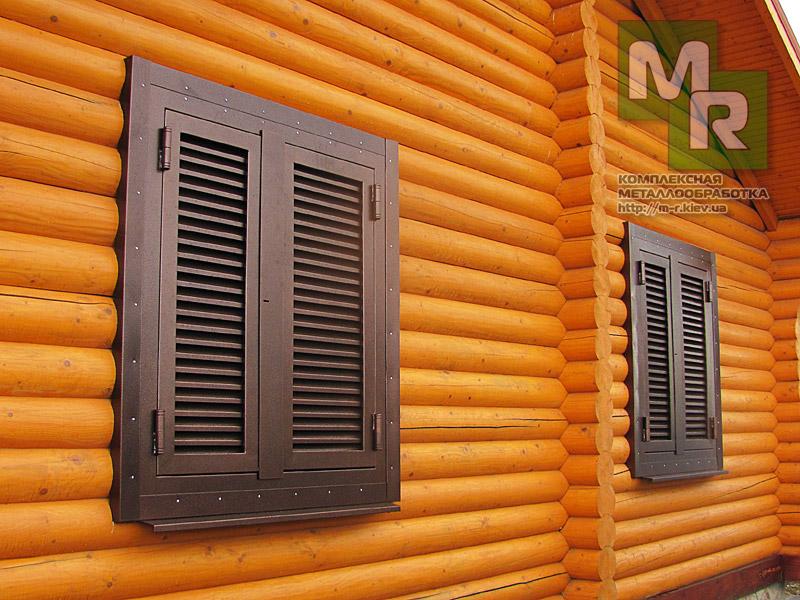 металлические ставни на окна внешние